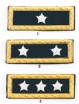 Union Generals Frock Coat Shoulder Boards